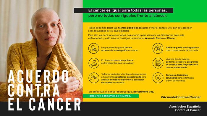 El Ayuntamiento de Almodóvar difunde hoy, junto a la Junta Local de la AECC, la acción denominada #AcuerdoContraelCáncer