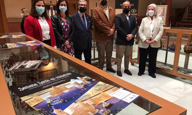 El Patronato de Asuntos Sociales acoge una muestra de miniaturas de Semana Santa a beneficio del Comedor de San Roque