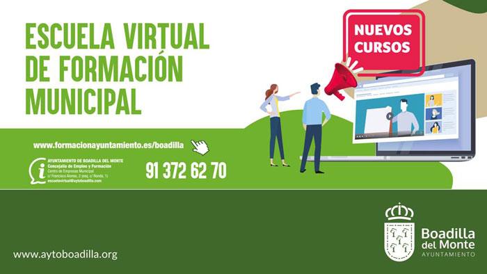 La Escuela Virtual de Formación amplía su oferta de cursos gratuitos para empadronados
