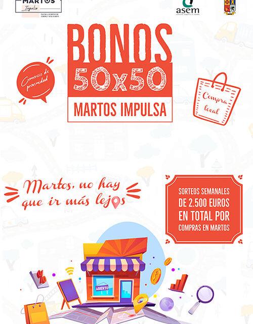 Nuevo sorteo de la campaña de apoyo al comercio 50×50 Martos Impulsa