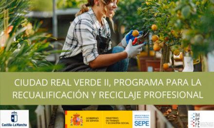 """8 desempleados podrán recualificarse a través de la segunda edición del programa """"Ciudad Real Verde"""""""