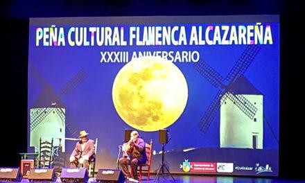 La Peña Flamenca de Alcázar celebra su 33 aniversario con una gala en el Auditorio Municipal
