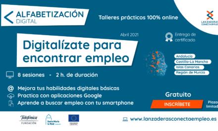 """Abierta a inscripción una nueva ronda de """"Alfabetización Digital"""" para personas en desempleo"""