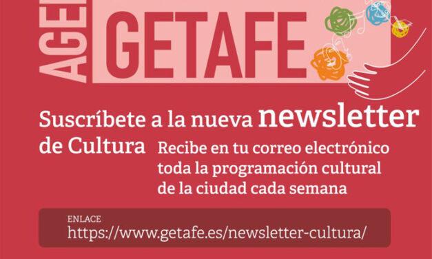 Nueva newsletter para recibir en el correo electrónico toda la programación cultural de Getafe