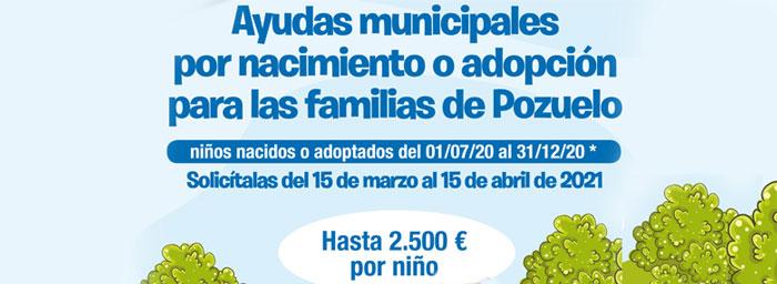 Continúa abierto el plazo de solicitud para las ayudas al nacimiento o adopción de hasta 2.500 euros