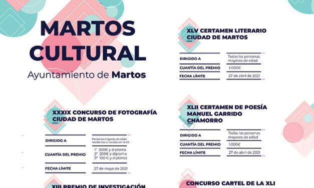 El Ayuntamiento mantiene su firme apuesta por el arte y la cultura con nueva convocatoria de Martos Cultural
