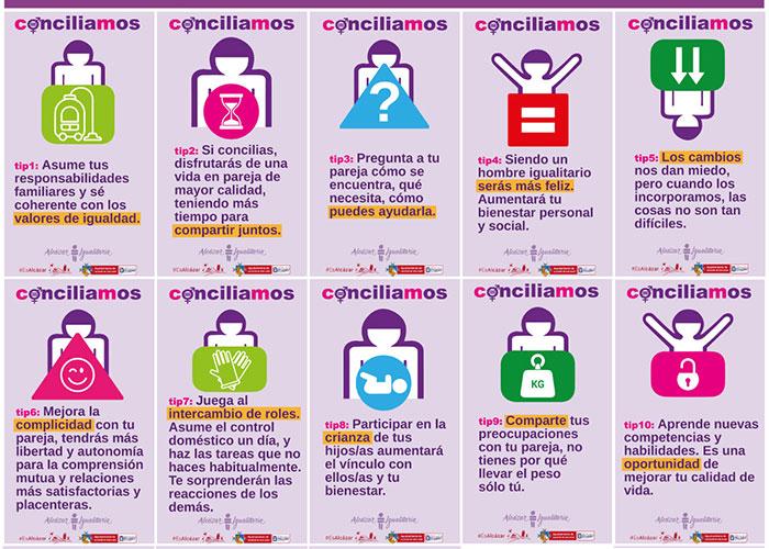 """El Centro de la Mujer pone en marcha la segunda parte de la campaña """"Conciliamos"""" para reflexionar sobre la relaciones familiares identificando la desigualdad"""