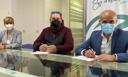 El Imefe y Aspaym firman un convenio de colaboración que permitirá la realización de prácticas a una persona con problemas de movilidad en la sede central de San Andrés