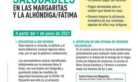 Abre una oficina para asesorar sobre eficiencia energética en Las Margaritas y La Alhóndiga
