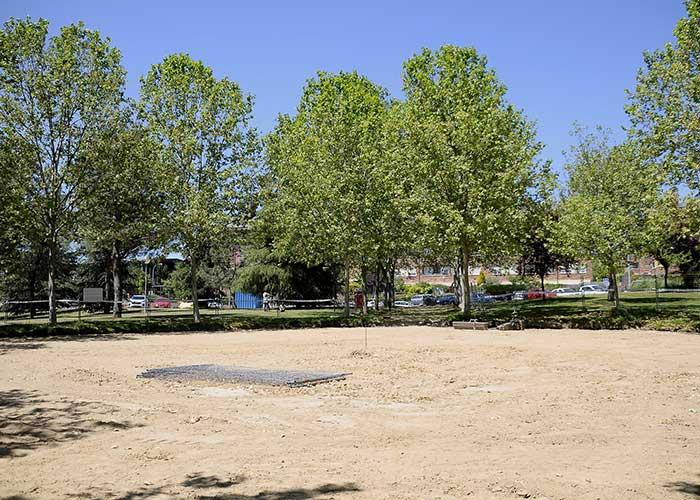 El parque Alejandro de la Sota tendrá dos áreas de juego con grandes elementos de temática marinera
