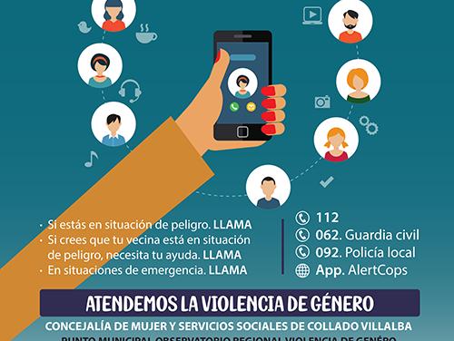 """El Ayuntamiento de Collado Villalba pone en marcha la campaña """"A pesar de la distancia, estamos cerca"""" de atención a las víctimas de violencia de género"""