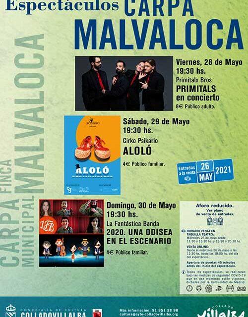 Un fin de semana cargado de espectáculos en Collado Villalba