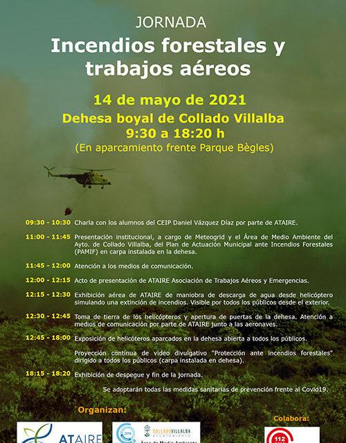 Este viernes la Dehesa Boyal acoge una jornada sobre incendios forestales y trabajos aéreos