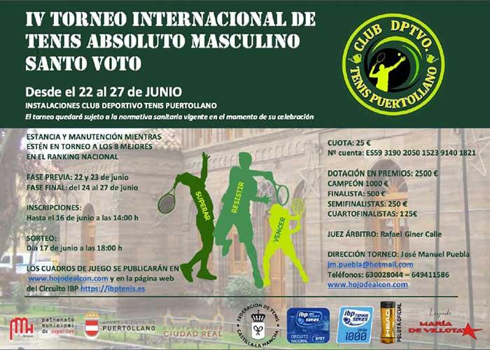 """Veintisiete tenistas de cinco nacionalidades jugarán en el IV Internacional de tenis """"Santo Voto"""""""