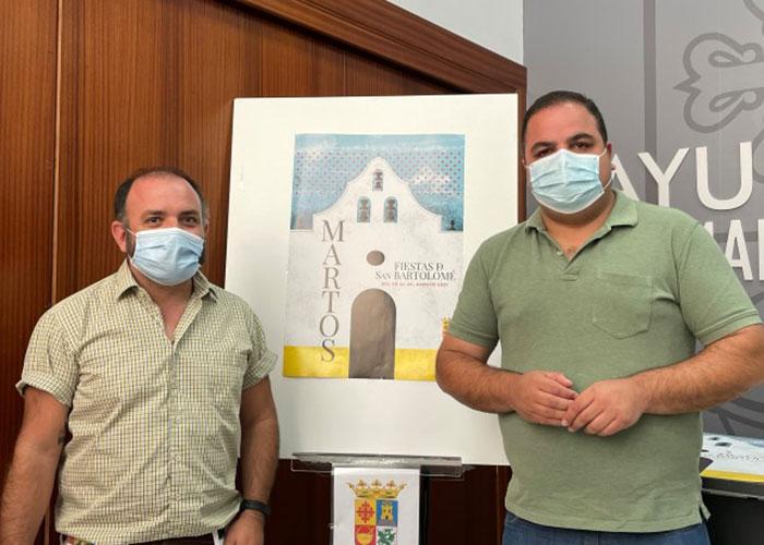 La ermita de San Bartolomé protagoniza el cartel de las fiestas a partir de una propuesta minimalista