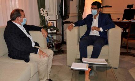 La Diputación reafirma su compromiso con Puertollano en la primera visita institucional de Adolfo Muñiz