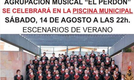 """Cambio de ubicación de la actuación de la Agrupación Musical """"El Perdón"""" en  la programación """"Escenarios de Verano"""""""