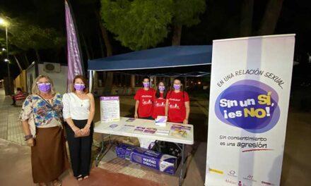 La Feria de Alcázar de San Juan cuenta con un punto violeta que ha instalado el ayuntamiento