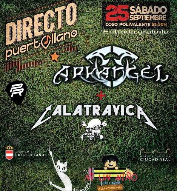 """La fuerza musical de Calatrávica y Arkángel cerrarán los conciertos """"Puertollano Directo"""""""