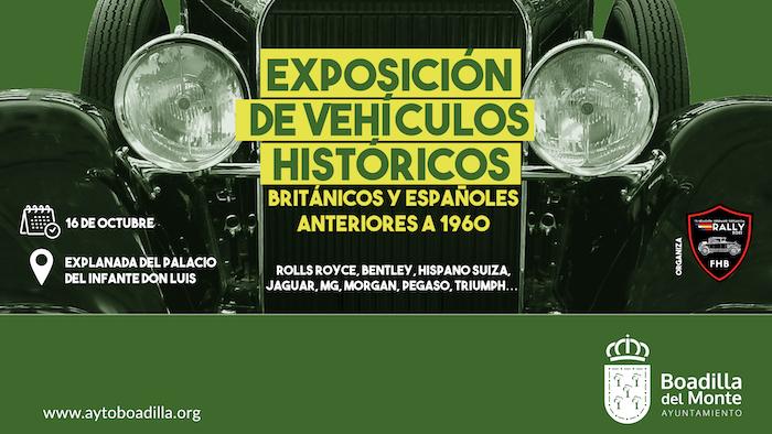 Veinte vehículos del I Rally de coches antiguos de la Fundación Hispano Británica se exhibirán en Boadilla