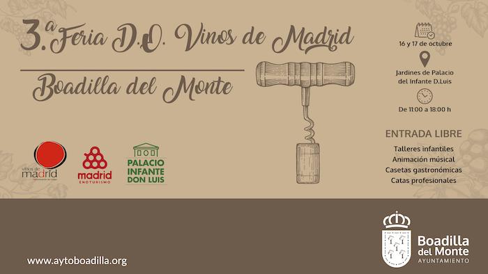 Los mejores vinos de Madrid llegarán a Boadilla los días 16 y 17 de octubre