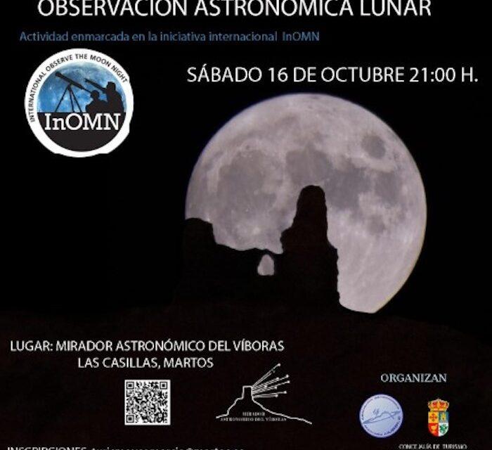 Observación astronómica lunar en el mirador del Víboras