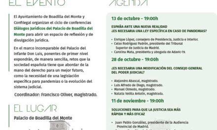 Boadilla organiza el ciclo de conferencias «Diálogos Jurídicos», con la presencia de destacados ponentes